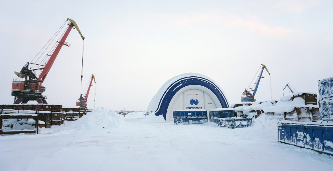 Report on the work of pneumatic hangars in Norilsk