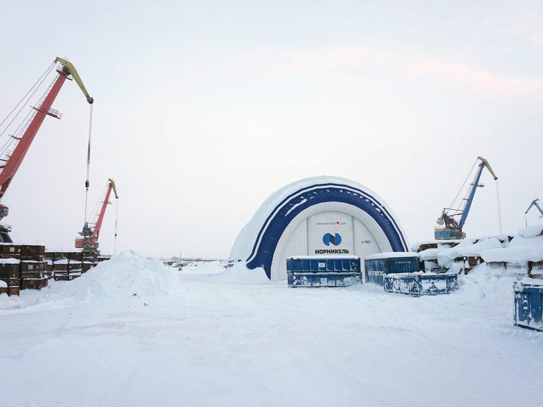 Репортаж по работе пневмоангаров в Норильске