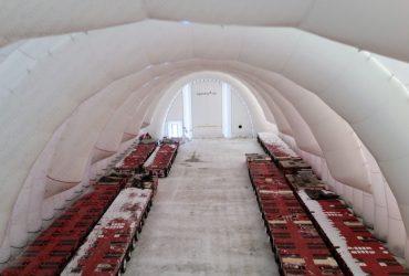 Надувной гараж для техники