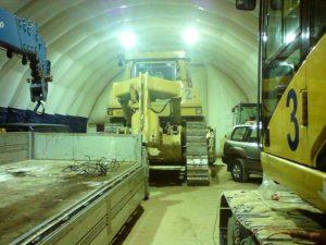 Быстровозводимый гараж для строительной техники  (180 кв.м) «Сибстройнефтегаз»