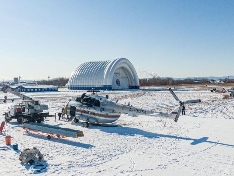 VGTRK Khabarovsk report on the aircraft hangar