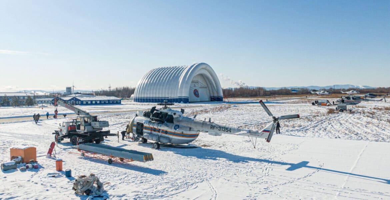 Репортаж ВГТРК Хабаровск о авиационном ангаре